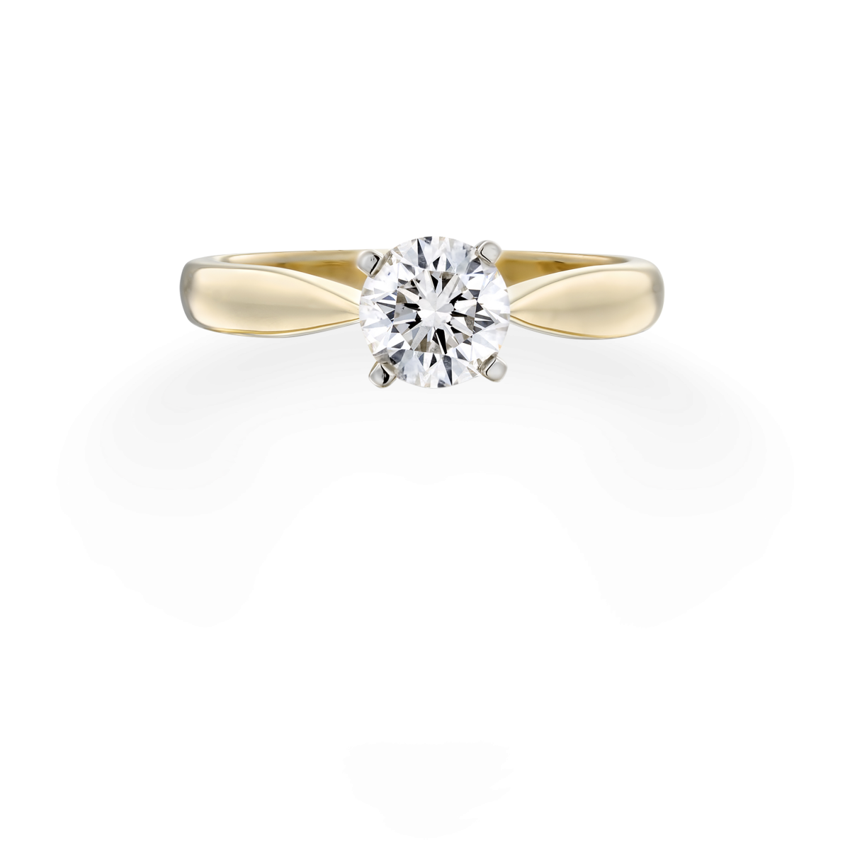 טבעת אודרי - זהב צהוב