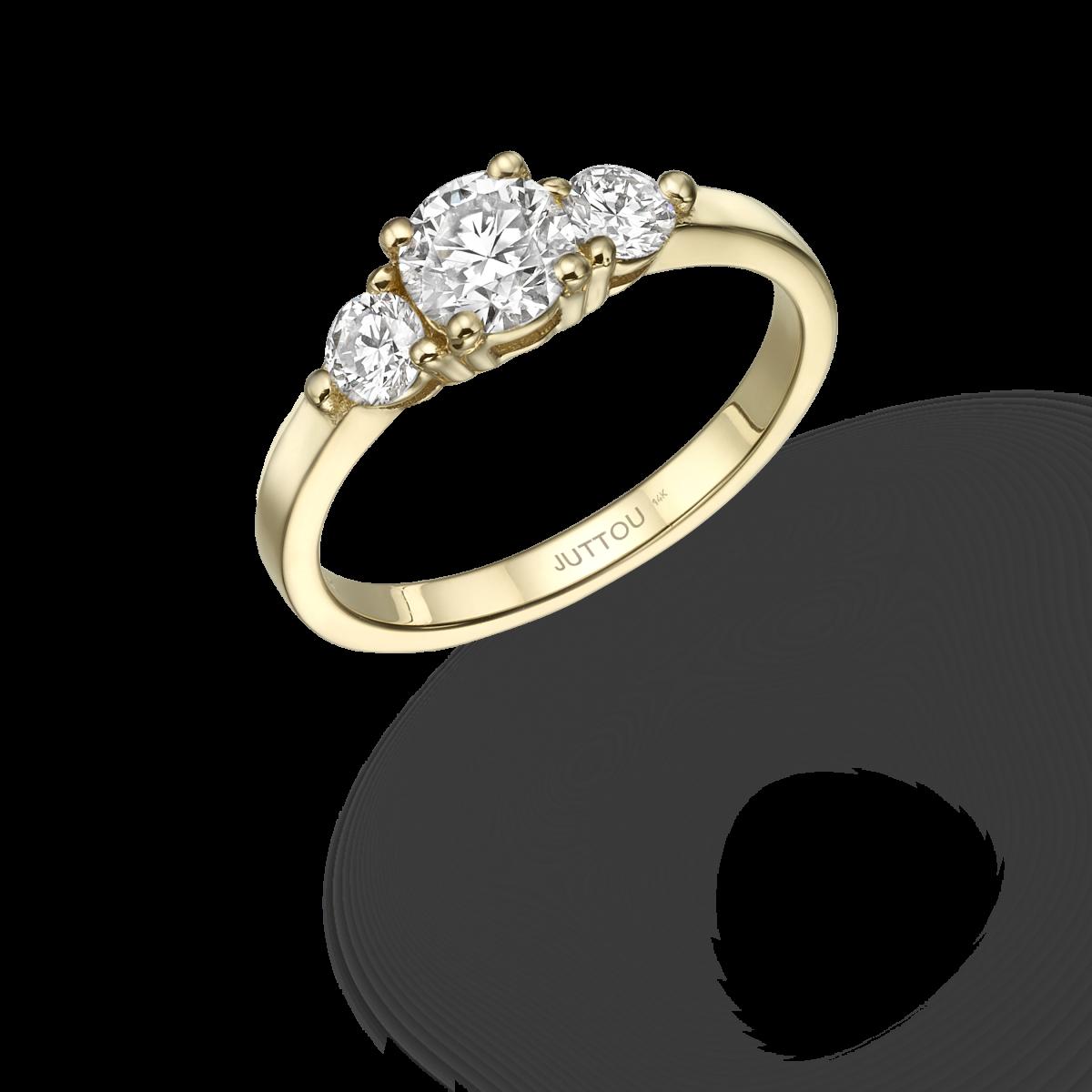 טבעת פיפה דקה - זהב צהוב