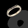 טבעת רודי שחורה - זהב צהוב